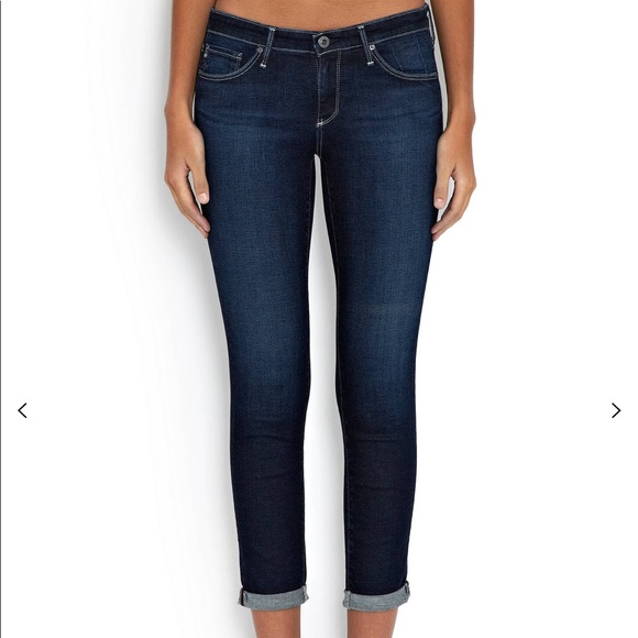 Ag Adriano Goldschmied Denim - AG The Stilt Roll up Cropped Jean.Hidden Cove. 28